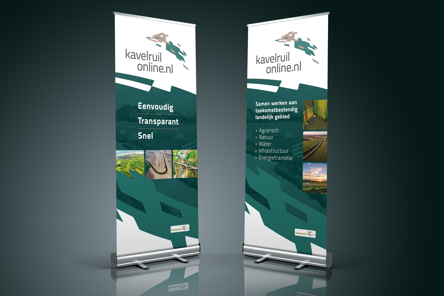 roll-up banners Kavelruilonline.nl